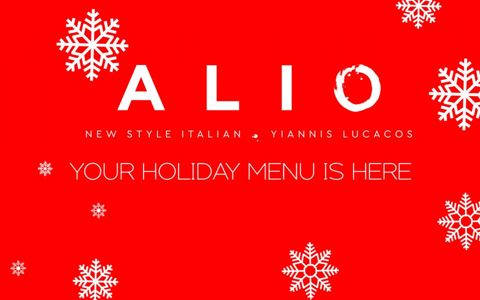 ΑLIO HOLIDAY MENU