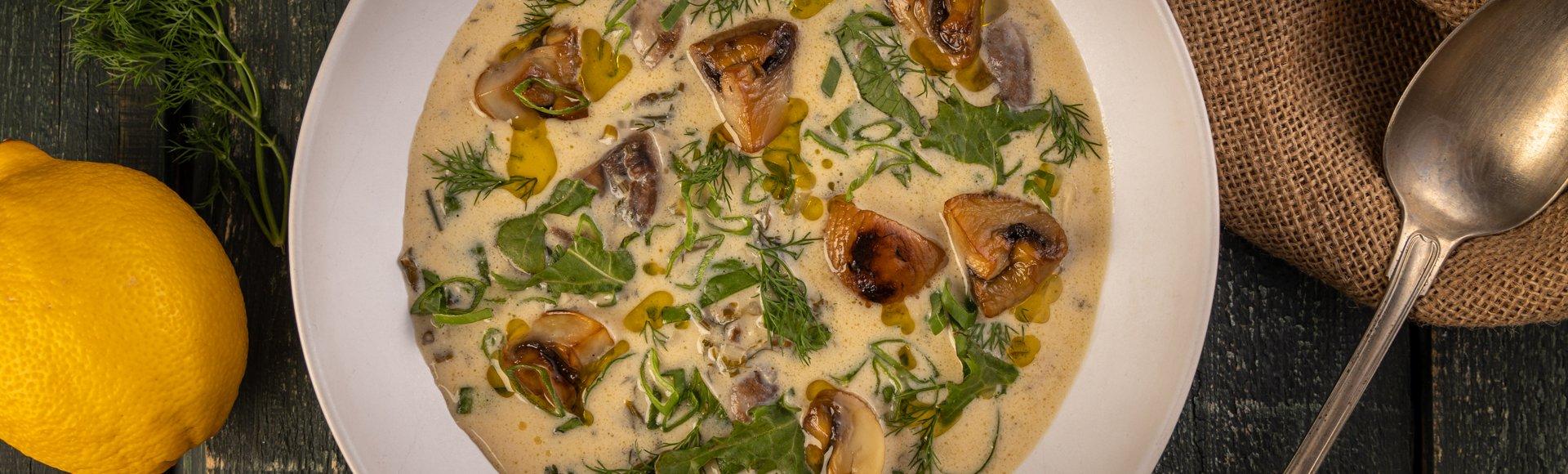 Μαγειρίτσα με μανιτάρια