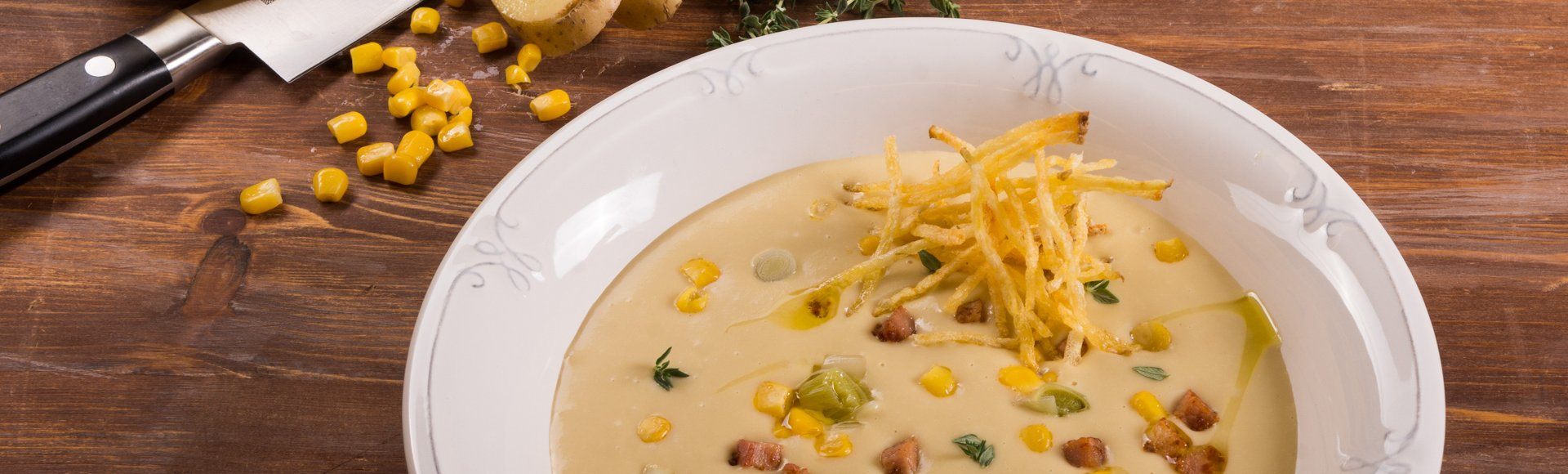 Σούπα με πατάτα, πράσο & μπέικον