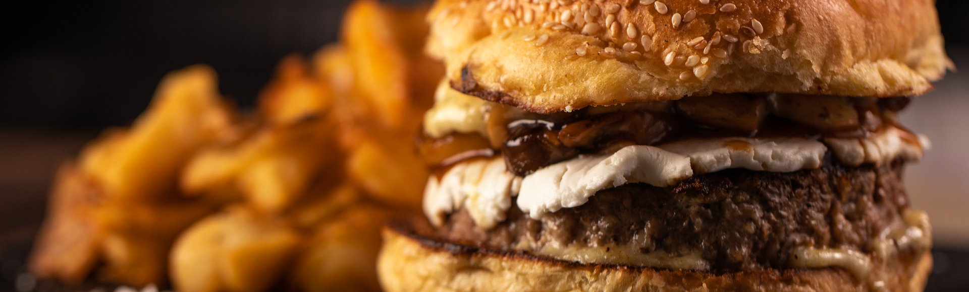 Burger με μανιτάρια
