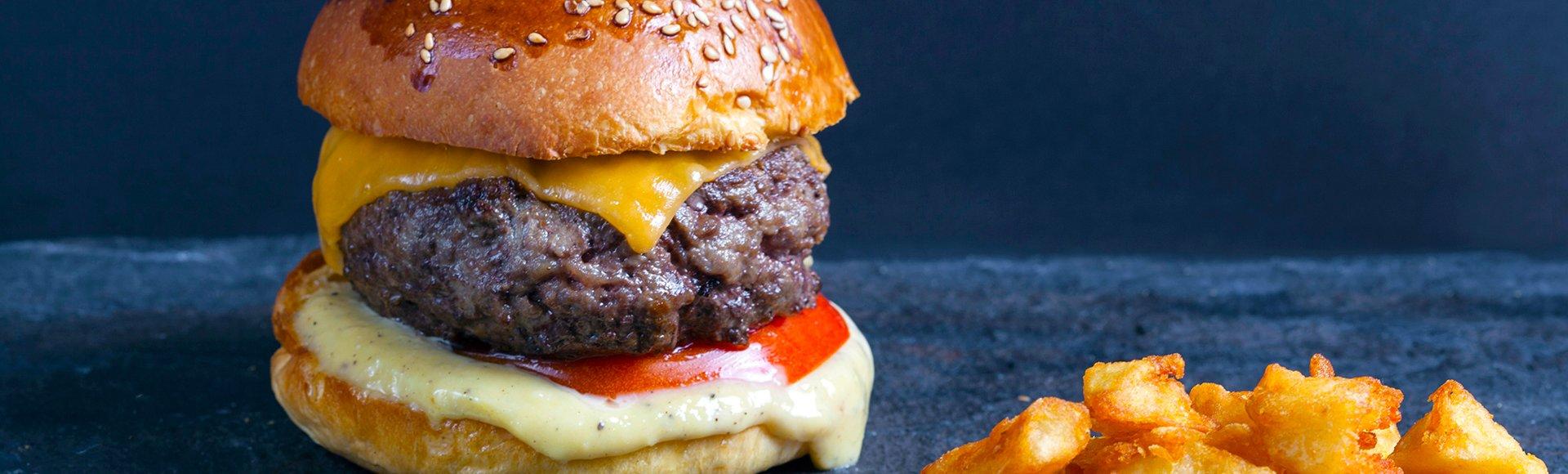 Burger με μοσχαρίσιο μπιφτέκι