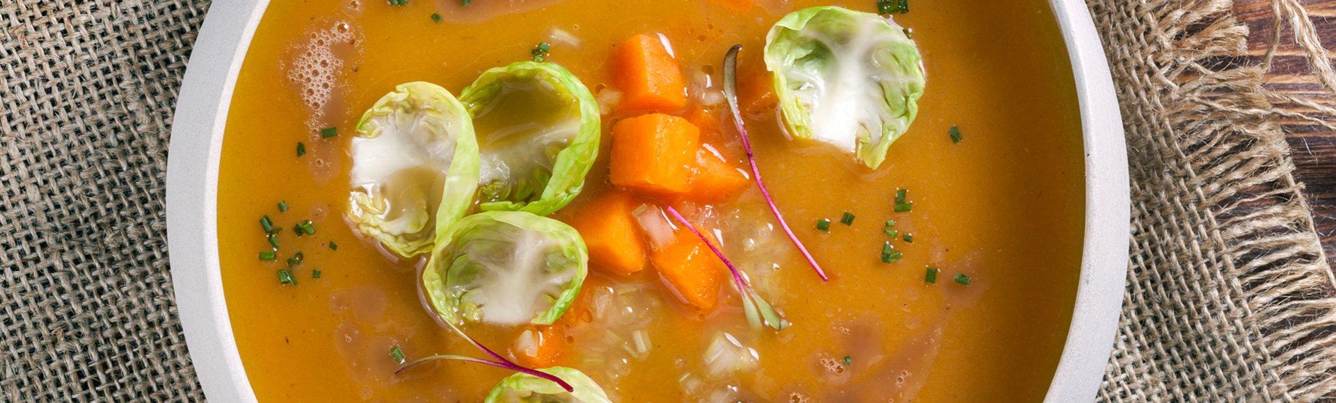 Σούπα κολοκύθας με καβουρδισμένο βούτυρο & μπαχαρικά