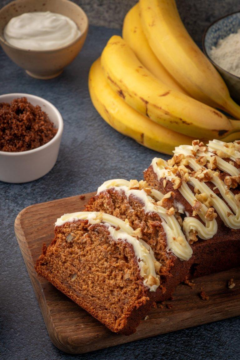 Κέικ μπανάνα με καρύδια