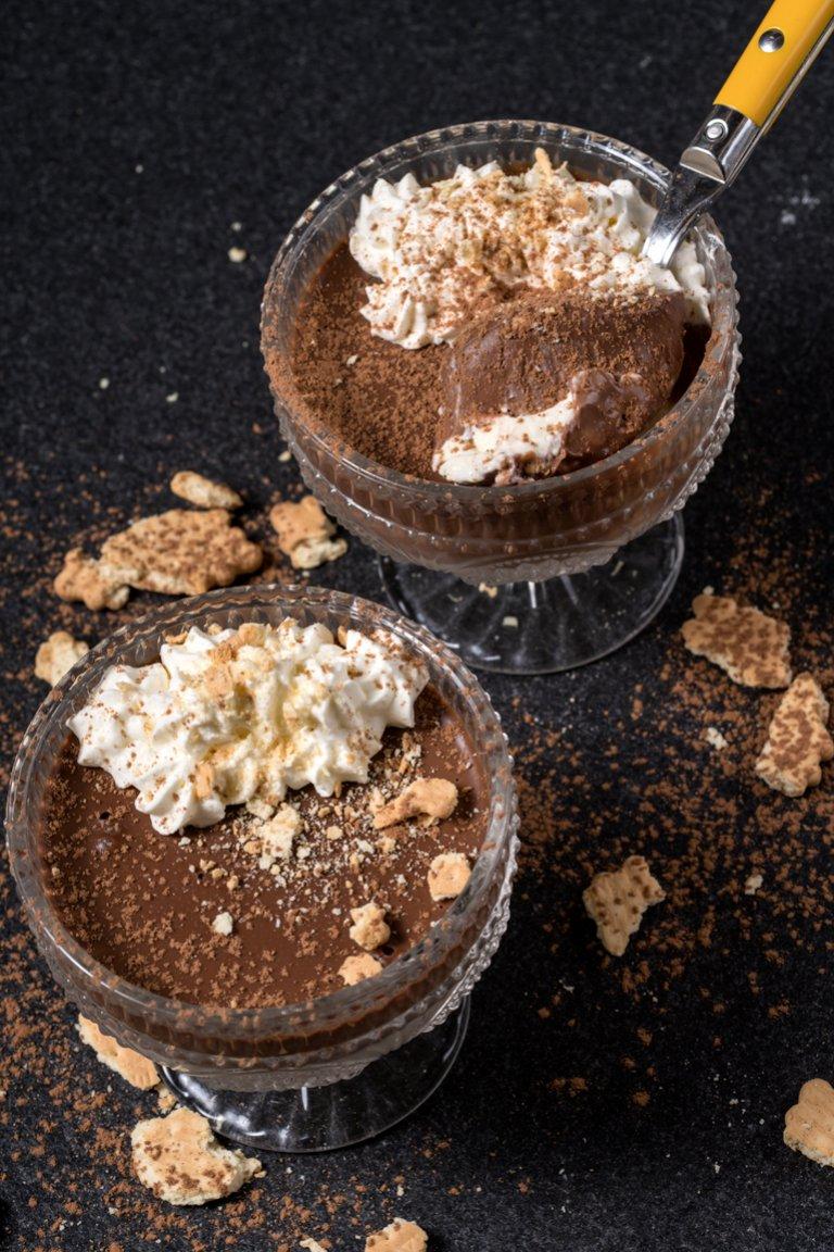 Μιλφέιγ με κρέμα σοκολάτα & κρέμα βανίλια