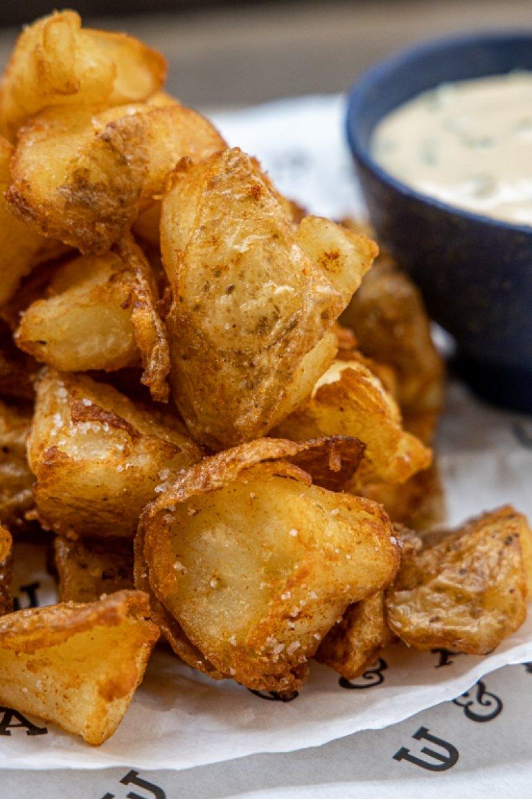 Τραγανές τηγανητές πατάτες