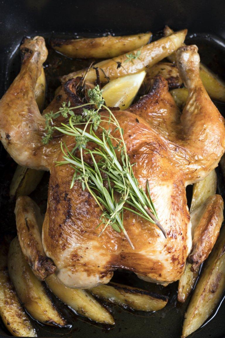 Κοτόπουλο με πατάτες στον φούρνο