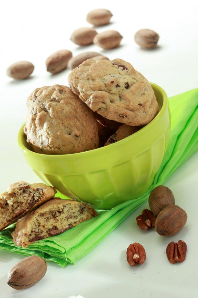 Cookies με σοκολάτα και φιστίκια πεκάν