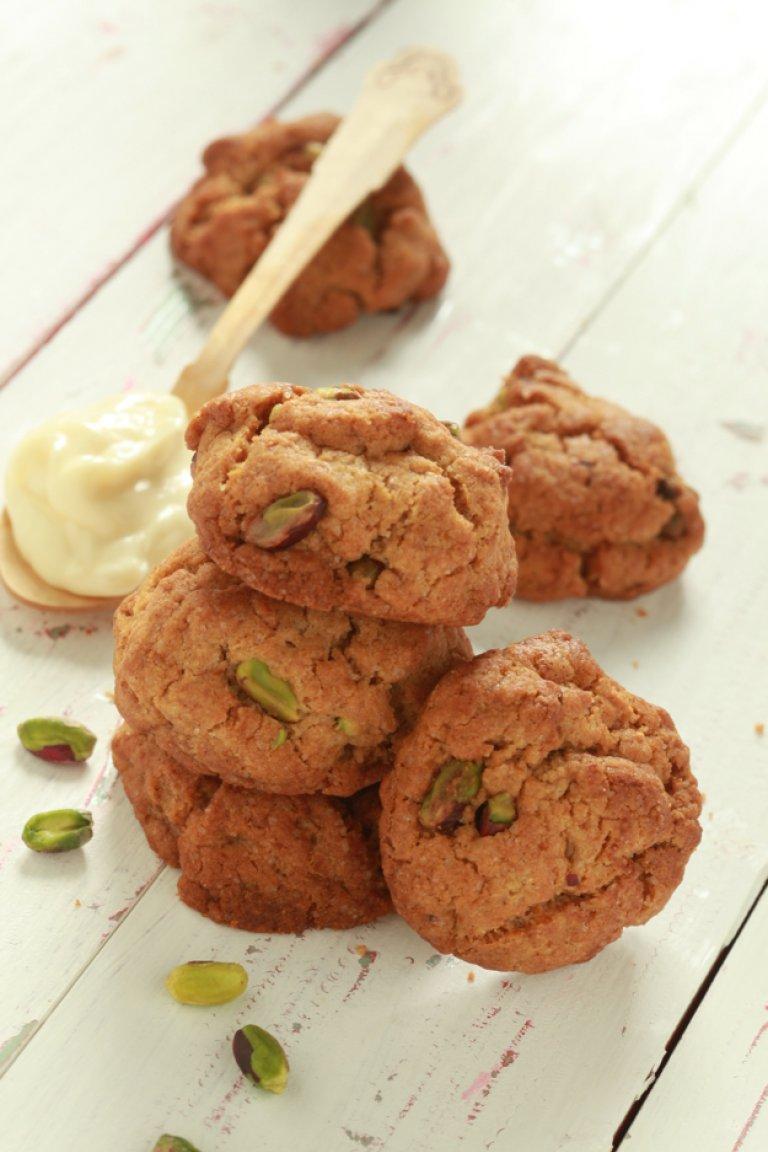 Cookies με λεμόνι, τζίντζερ και φιστίκια Αιγίνης