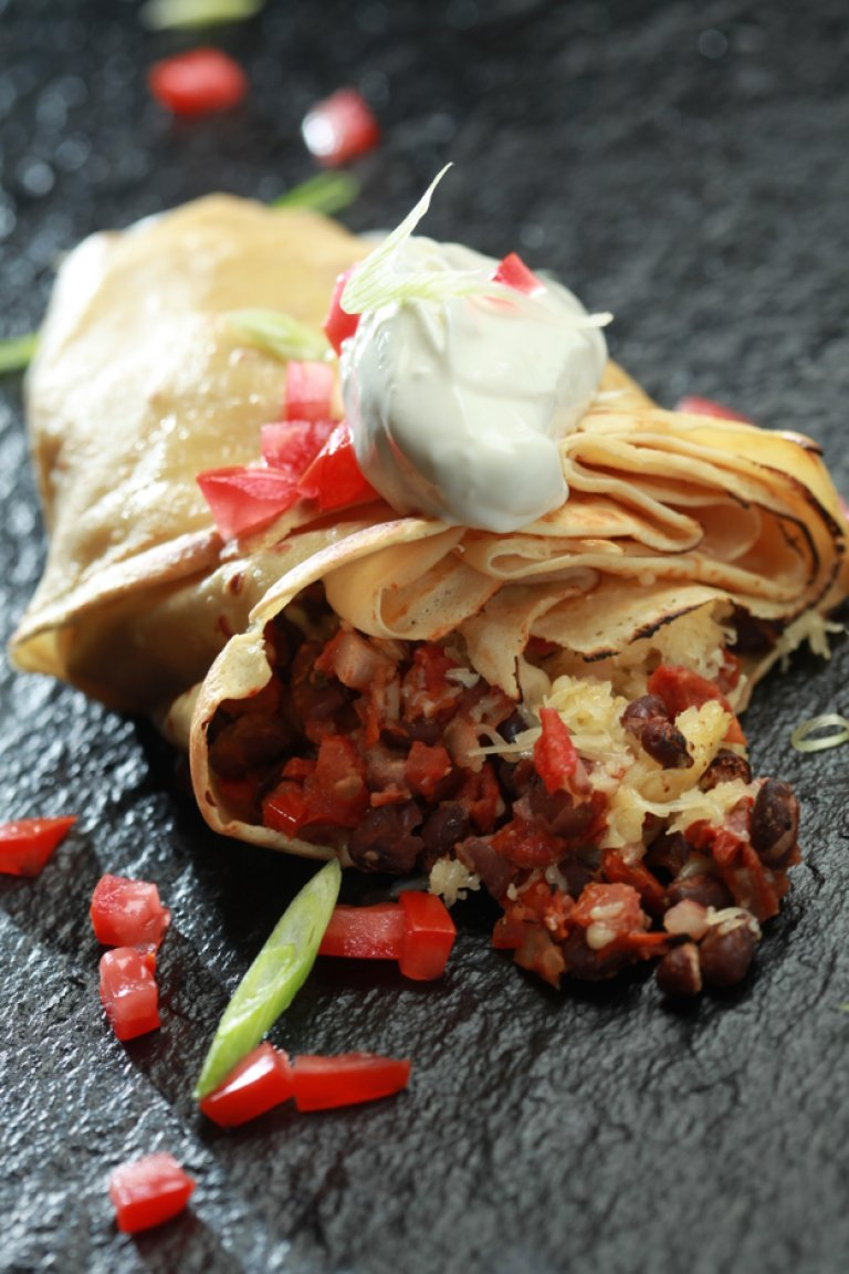 Black bean crepes