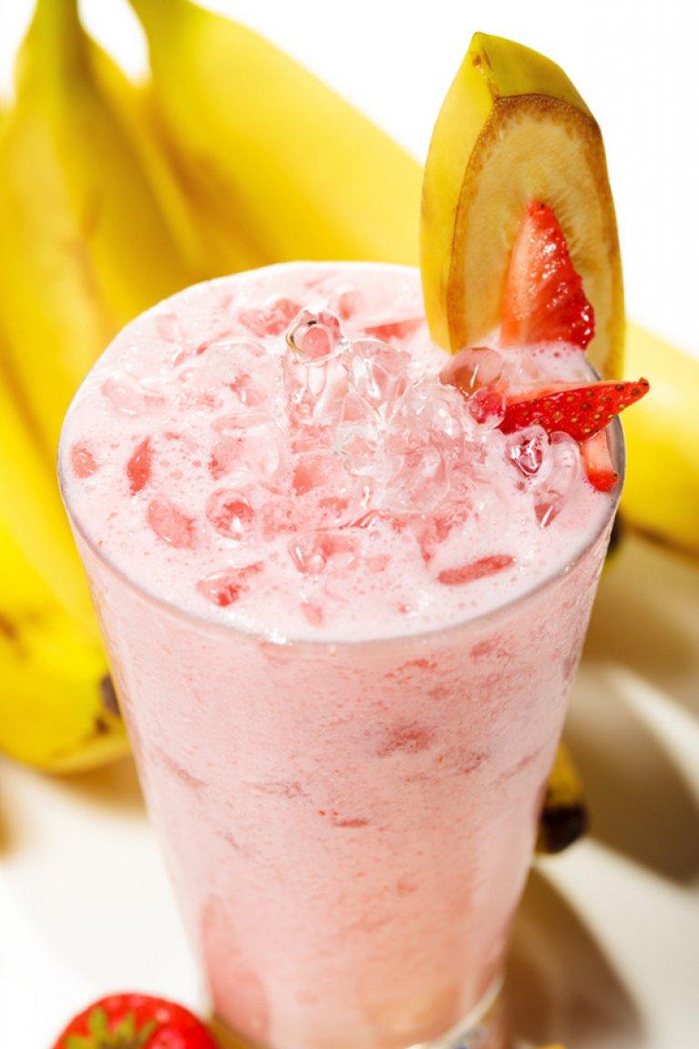 Smoothie με φράουλα και μπανάνα