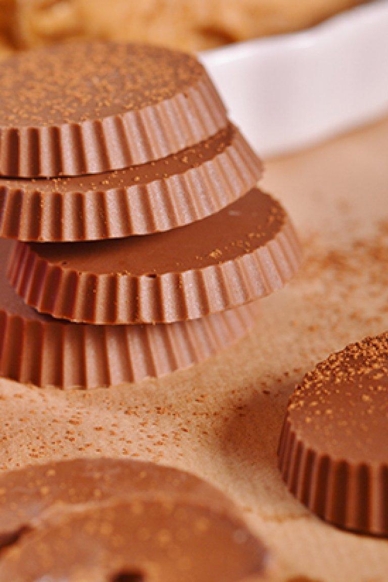 Σοκολατάκια με φιστικοβούτυρο